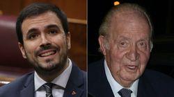 Alberto Garzón califica con una palabra a Juan Carlos I y genera cientos de