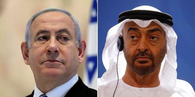 Benjamin Netanyahu et le cheikh Mohammed ben Zayed Al-Nahyane ont conclu un accord historique de normalisation...