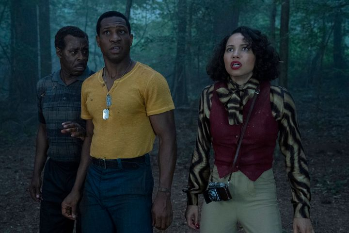 "Courtney B. Vance, Jonathan Majors and Jurnee Smollett in ""Lovecraft Country."""