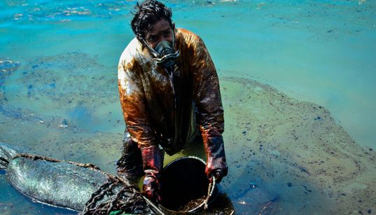 【モーリシャス沖重油流出】油まみれになりながらバケツで...写真たちが伝える回収作業のリアル