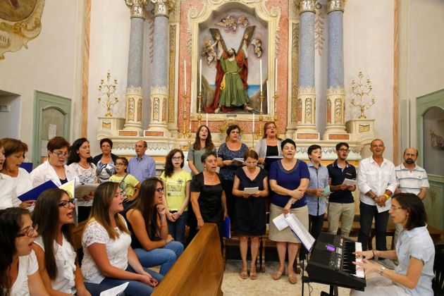 Mass in an Italian catholic church. Choir. Tricase, Italy. (Photo by: Godong/Universal Images Group via...