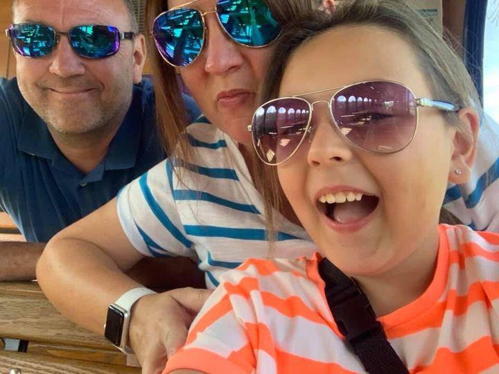 Dom, Sarah and Ellie-Mae Merrix.