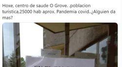 El alarmante cartel que han puesto en un centro de salud de un pueblo de Galicia en plena oleada de
