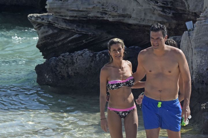 Pedro Sánchez y su mujer Begoña Gómez, en 2016.