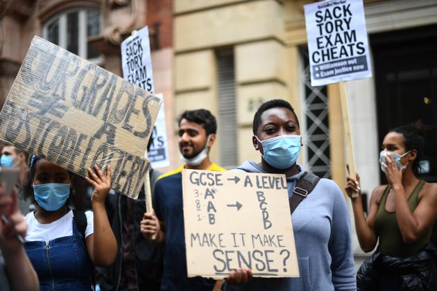 Students March On Whitehall Demanding Gavin Williamson Be Sacked Over A-Level Fiasco
