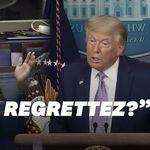 Trump a complètement éludé la question de ce