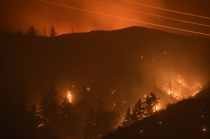 More than 5,000 structures are threatened by the Lake fire.