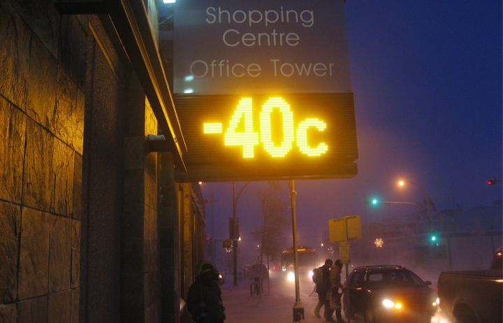 Just another winter day in Yellowknife.