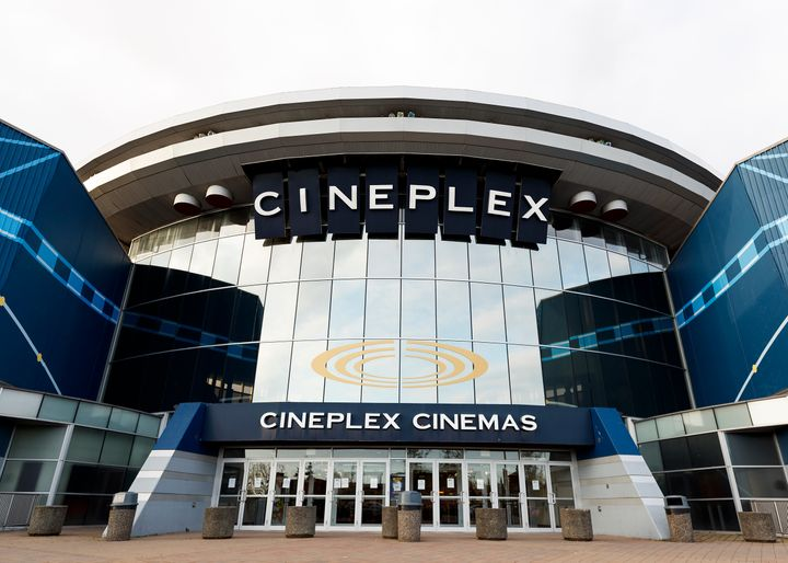 Cineplex Cinemas remains closed during the coronavirus pandemic on April 18, 2020 in Langley.
