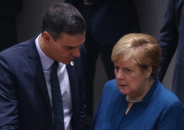 Pedro Sánchez y Angela