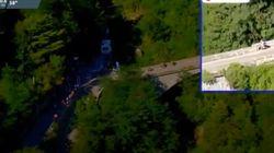 Terrorífica caída en el Giro de Lombardía: el ciclista Remco Evenepoel se precipita al vacío desde un