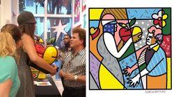 A treta com Romero Britto virou uma obra de arte tão linda quanto uma peça de Romero