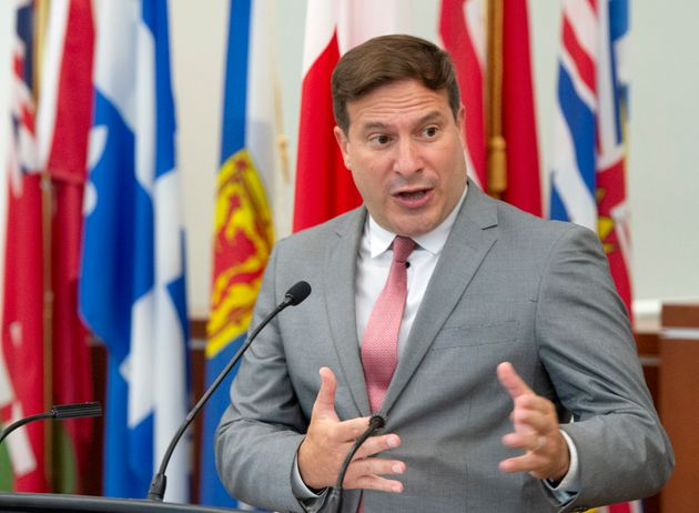 Federal Minister of Immigration, Refugees and Citizenship Marco Mendicino announces a program to help...