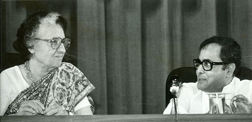 A 1982 photo of Former Prime Minister Indira Gandhi with then Finance Minister Pranab Mukherjee. Mukherjee...