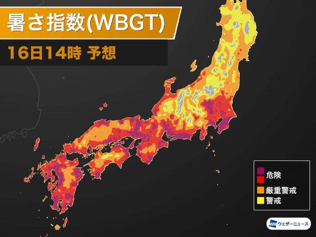 静岡県・天竜で40.0℃を観測。群馬県や埼玉県に続き今年で4地点目