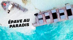 Le navire échoué responsable de la marée noire à Maurice s'est brisé en