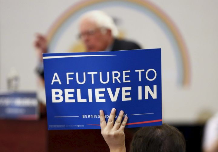 Democratic U.S. presidential candidate Bernie Sanders holds a town hall event at the Navajo Nation casino in Flagstaff, Arizo