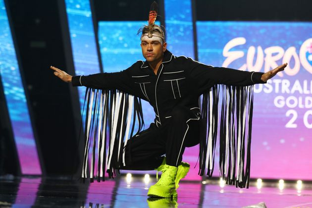 Mitch Tambo poses during a media call for Eurovision - Australia Decides at Gold Coast Convention and...