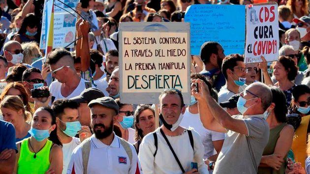 Manifestación contra el uso de