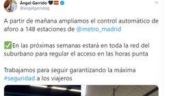 La queja más repetida a este tuit de Ángel Garrido (Ciudadanos) sobre el metro de