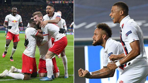 Ce mardi 18 août, le Paris Saint-Germain de Neymar et Mbappé (à gauche) affronte le RasenBallsport Leipzig...