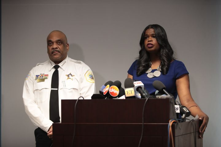 Cook County State's Attorney Kim Foxx (right) is thefirst Black woman to hold Chicago's top law enforcement job.
