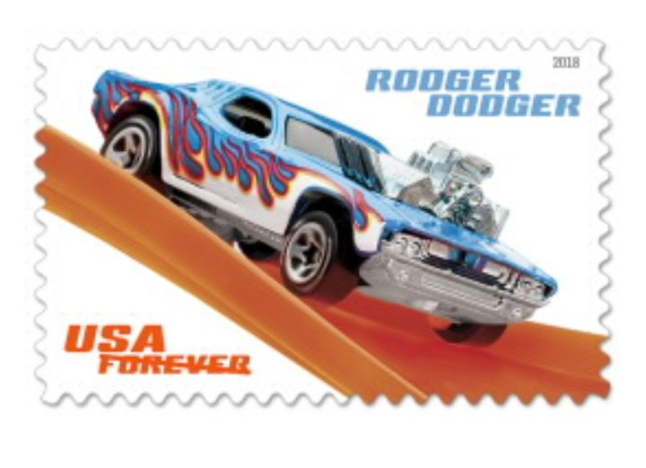 Hot Wheels Stamp, $0.55