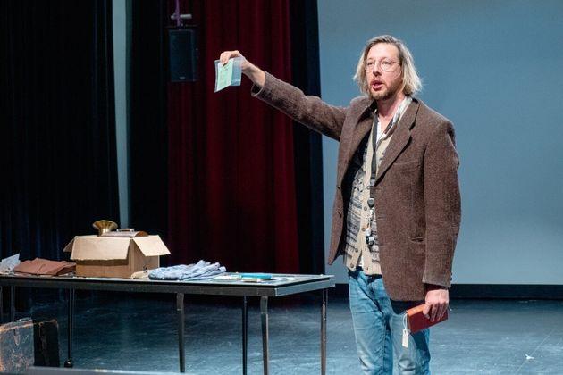 Emmanuel Schwartz en répétition au TNM pour la pièce «Zébrina, une...