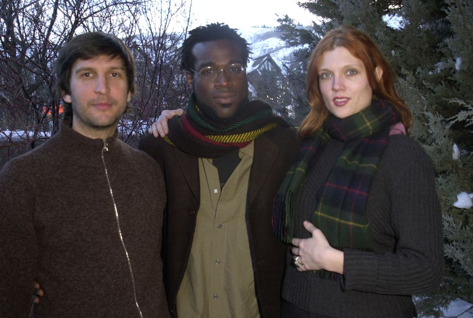 Joel Hopkins, Adebimpe and Kaili Vernoff at the Sundance Film Festival in 2001.