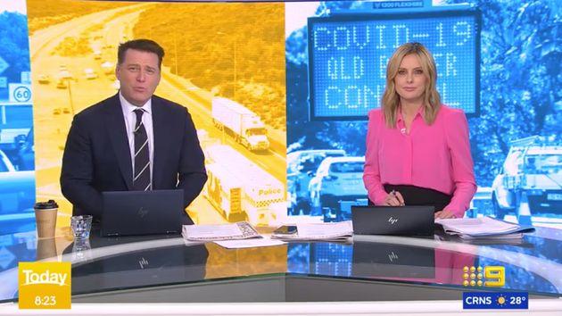 Karl Stefanovic (left) on Channel Nine's