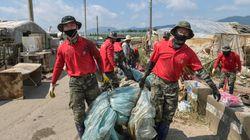 수해 지역은 코로나와 폭염으로 삼중고를 겪고 있다