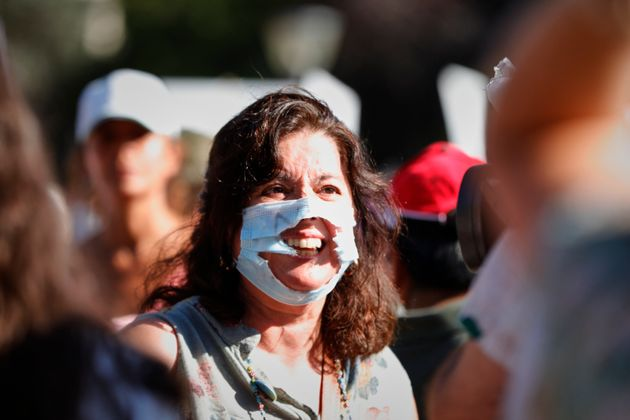 Manifestación en Madrid contra el uso de mascarilla este domingo, 16 de