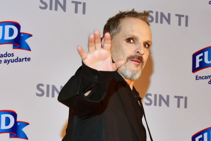 Spanish singer Miguel Bosé, pictured here on May 3, 2019, has been a leading promoter of coronavirus conspiracy t