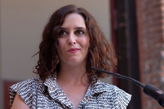 La presidenta de la Comunidad de Madrid, Isabel Díaz Ayuso, el pasado el 17 de julio en la plaza...