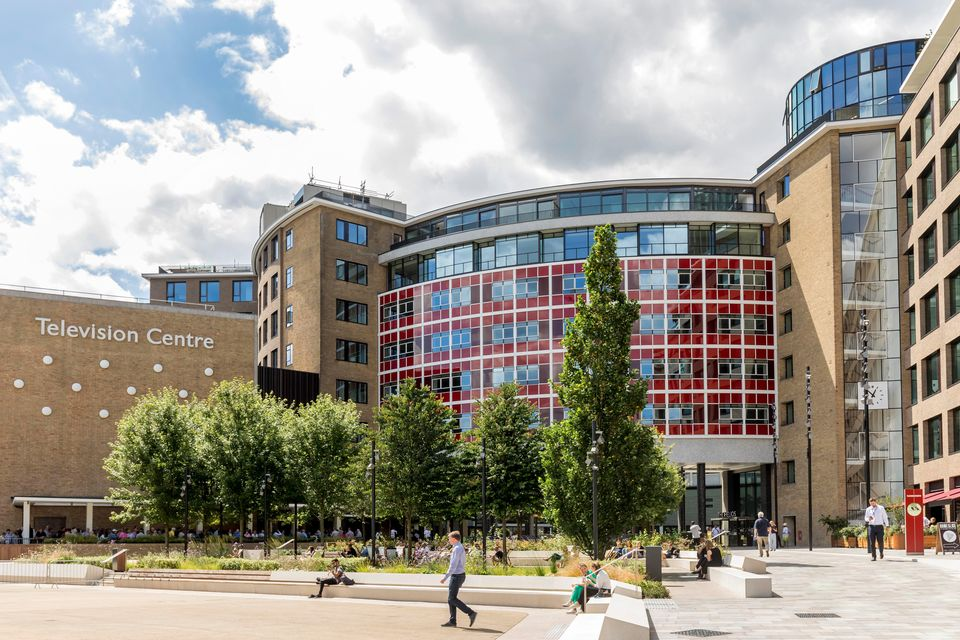 Television Centre in White City, London, pictured in