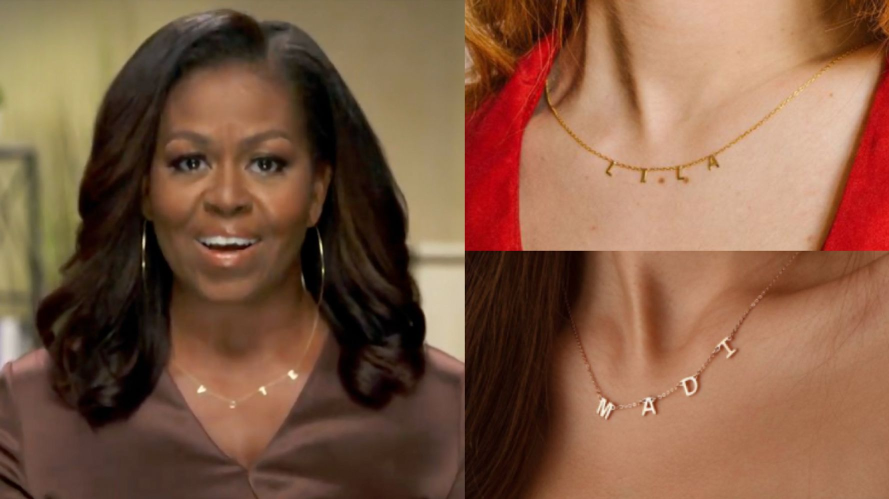 """Here Are Affordable Lookalikes To Michelle Obama's """"VOTE"""" Necklace 1"""