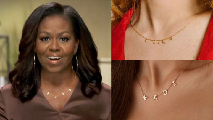 """We found alternatives to custom letter necklaces that are more affordable than Michelle Obama's """"VOTE"""" necklace."""