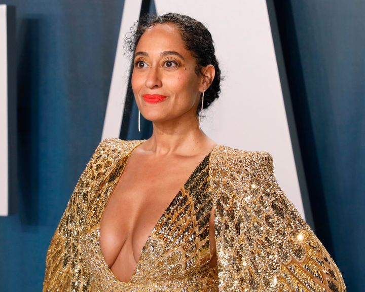 Tracee Ellis Ross attends the Vanity Fair Oscar Party at Wallis Annenberg Center for the Performing Arts on February 9 in Bev