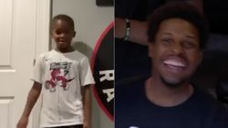 Raptors' Kids Melt Their Dads' Hearts In NBA's First Playoff