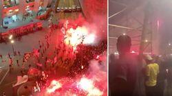 Près du Parc des Princes, les supporters du PSG fêtent la qualification en