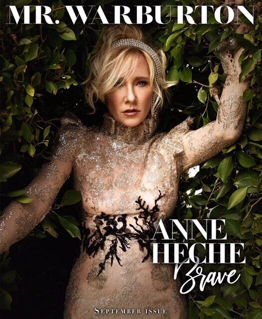 """""""Anne Heche is an unsung hero to the LGBTQ community,""""""""I asked Anne to be on my cover because during hardship we"""