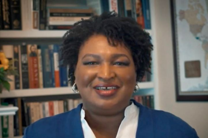 Stacey Abrams was the only keynote speaker at the Democratic National Convention on Tuesday night who spoke uninterrupted for