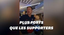 Les joueurs du PSG ont bien profité de leur victoire dans le