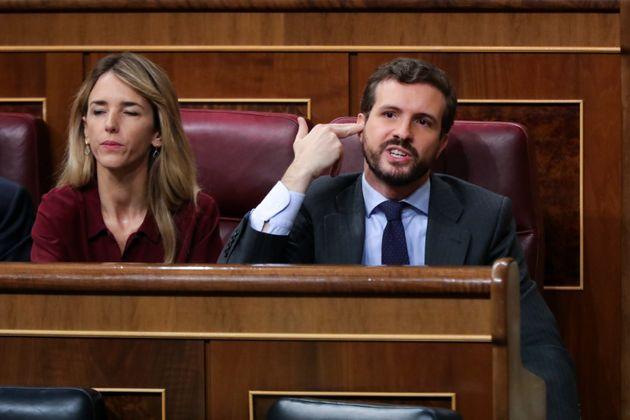 Cayetana Álvarez de Toledo y Pablo Casado, el pasado 5 de