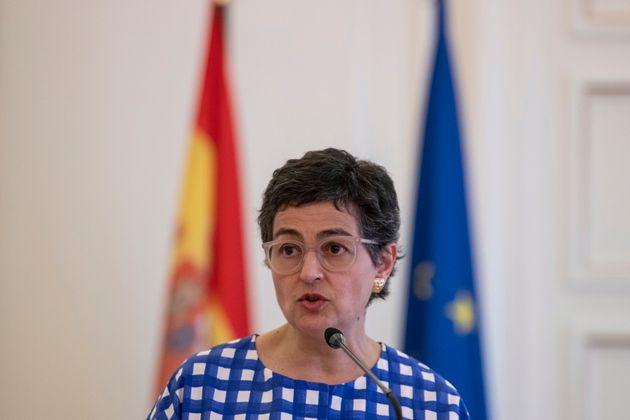 Arancha González Laya, el pasado julio, durante una comparecencia en