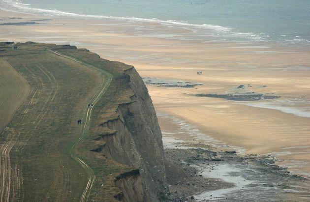 La plage de Blanc-Nez cape, près de Sangatte, dans le Pas-de-Calais (photo