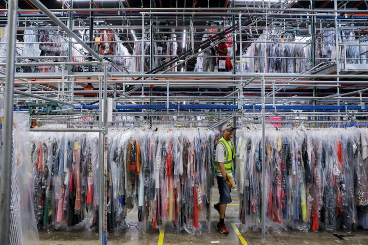 Rent the Runway says it heats clothes to temperatures between 248 and 302 degrees Fahrenheit during the cleaning process. The CDC says flu viruses are killed by heat above 167 F.
