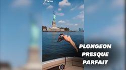 Son plongeon devant la Statue de la Liberté en a dégoûté plus