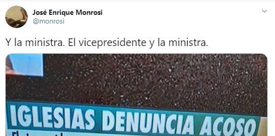 Captura del tuit de Enrique Monrosi.