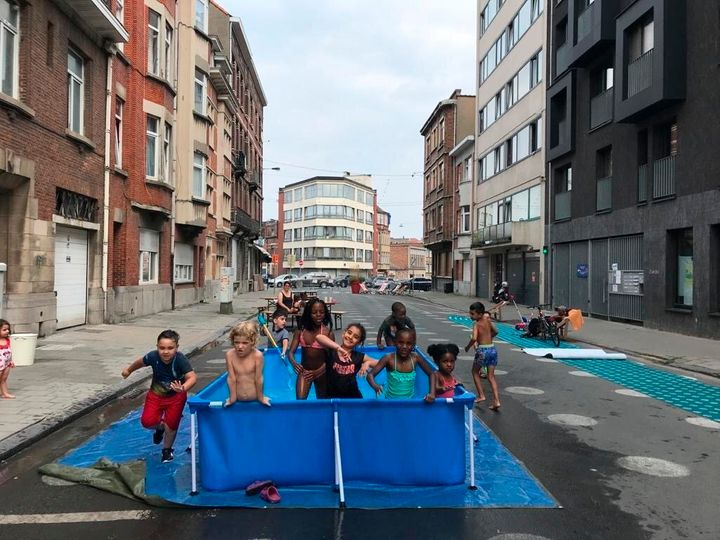Brussels, Belgium, has recaptured city streets for other uses, including swimming pools for children. So far, American cities